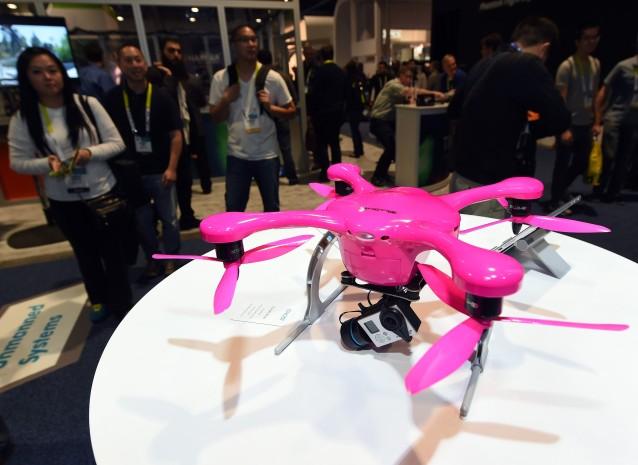 Drone på CES 2015. Foto:  Ethan Miller/Getty Images/AFP