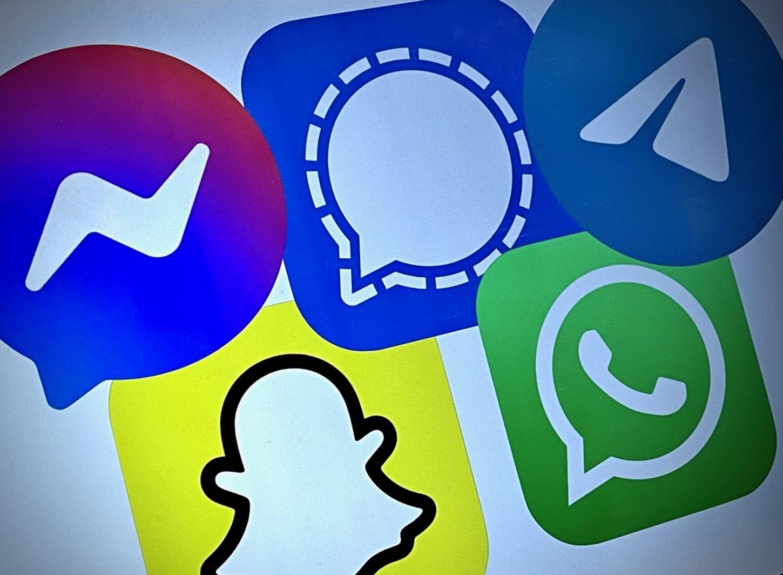 Logoene til forskjellige chat apper.